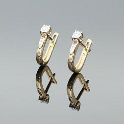 Kolczyki złote z diamentami