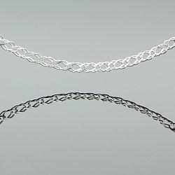 Łańcuszek srebrny rombo