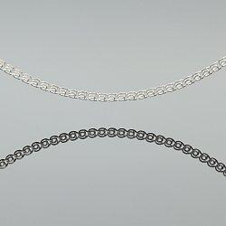 Łańcuszek srebrny love diamentowane