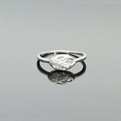 Pierścionek srebrny łezka z cyrkoniami