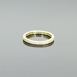 Pierścionek obrączka srebrna złocona żółtym złotem