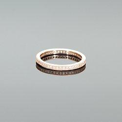 Pierścionek obrączka srebrna złocona różowym złotem