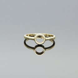 Pierścionek złoty kółko