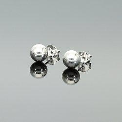 Kolczyki srebrne kulki