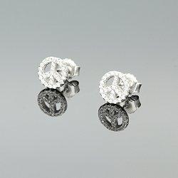 Kolczyki srebrne koła cyrkonie