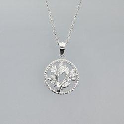 Zawieszka srebrna drzewko szczęścia z cyrkoniami