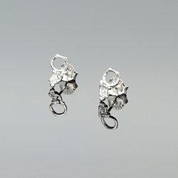 Kolczyki srebrne koty cyrkonie