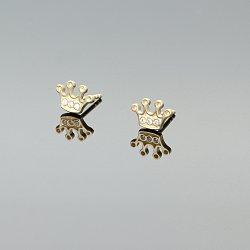 Kolczyki złote korona