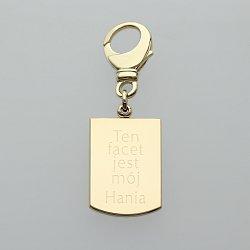 Brelok złoty do kluczy