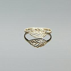 Pierścionek złoty liść