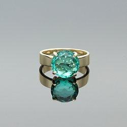 Pierścionek złoty ze szkłem