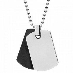 Nieśmietlenik czarny i srebrny na kulkowym łańcuszku