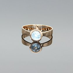 Pierścionek złoty z topazem