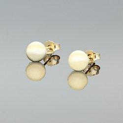 Kolczyki złote kulki